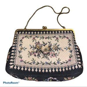Vintage Walborg Floral Tapestry Evening Bag